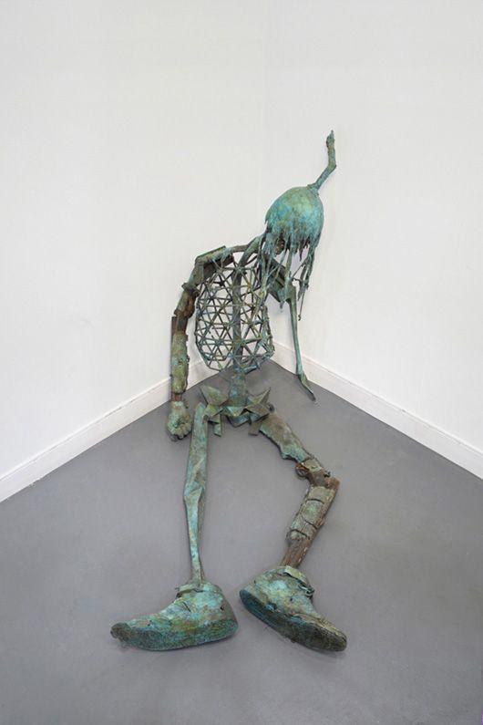 "Matthew Day Jackson, ""Seated not Defeated (Chief Bigfoot),"" 2012, bronze, patina."