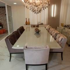 Reservas do Vale: Salas de jantar clássicas por Projecta Arquitetura