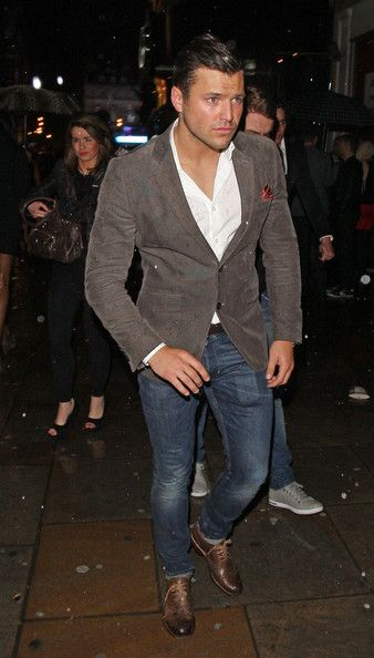 Mark Wright Mark Wright seen leaving in the rain from The British Soap Awards 2012 afterparty held at Cafe De Paris in London.