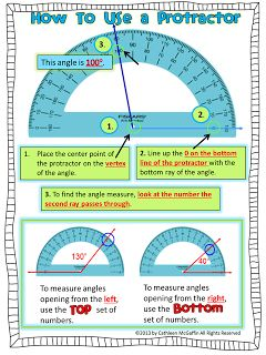 How to use a protractor poster and student handout FREEBIE!