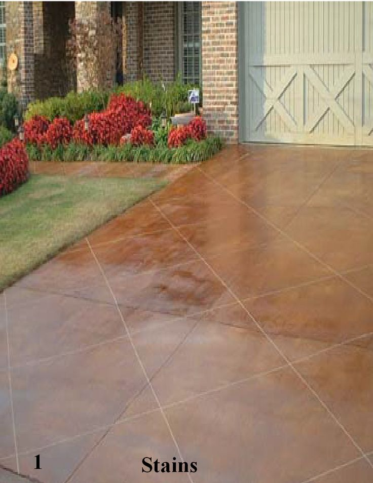 67 best staining concrete images on pinterest swimming for Acid wash concrete patio