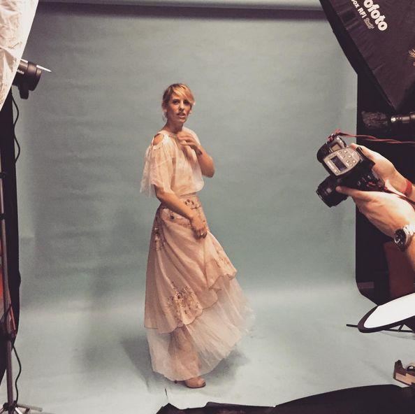 our designer @rosemarymasic #bts for @theweeklyreview #madeinmelbourne  story by @janerocca_ for @_msfw_  #nevenka #ss15 #newseason #therose #msfw #australiandesigner #fashion #beautiful Hair by @jamesthehairdresser MUA @kateradfordmua