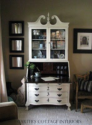Carteru0027s Cottage: The Secretary - old white and graphite · Chalk Painted  Secretary DeskSecretary ...