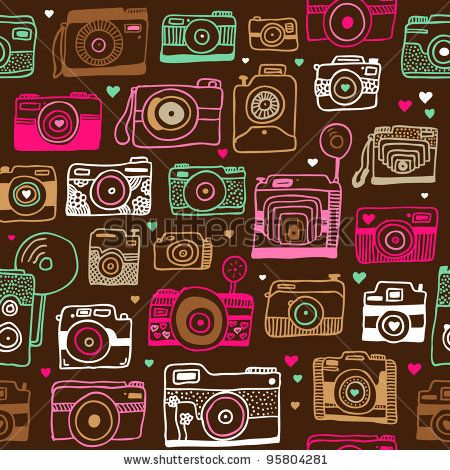 Seamless Photo Camera Background Pattern In Vector By Maaike Boot Via Shutterstock