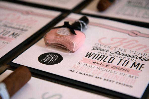 Bridal Party Invite on Behance - Bridesmaid Nail varnish