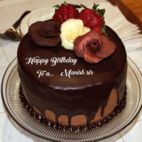 Write Name Wish U Happy Birthday Chocolate Cake Photo Edit Online