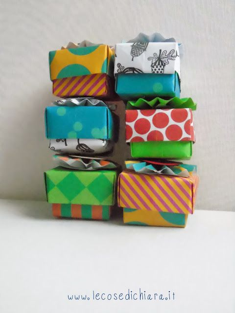 LE COSE DI CHIARA HANDMADE: appuntamento con gli origami: scatole