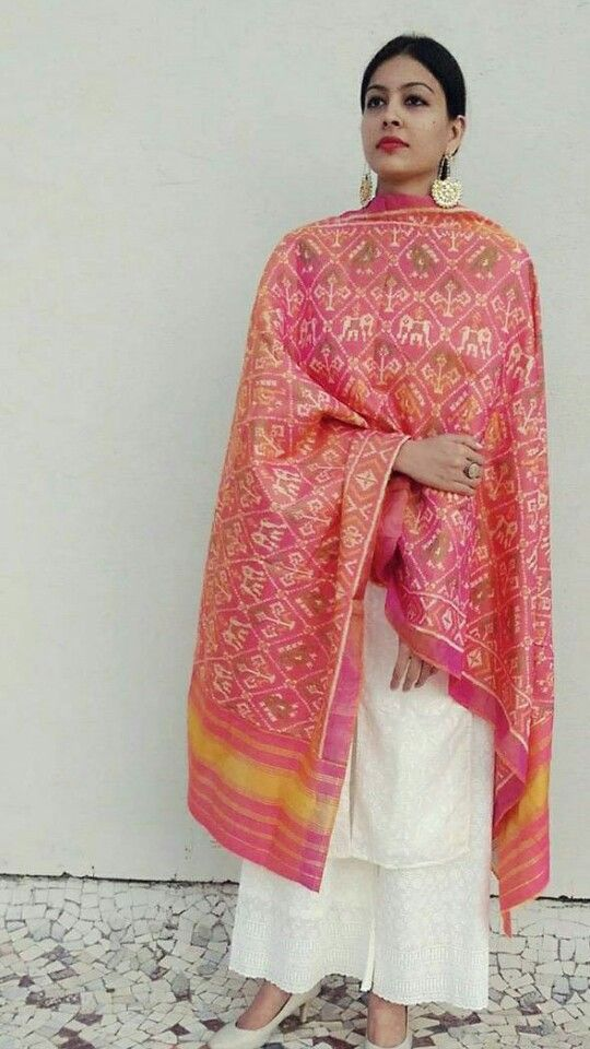 60 best dupatta in patola silk sarees images on Pinterest | Silk ...