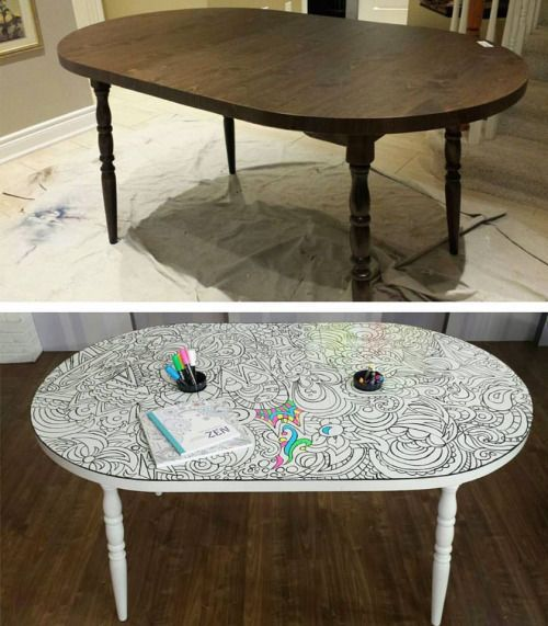Diy dry erase coloring table on imgfave diy do it for Remarkable dry erase paint