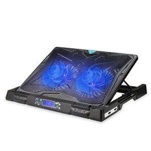 Refroidisseurs pc portable TeckNet pour ordinateur portable Gaming 12-17 pouces, équipé de 2 ports USB avec 2 ventilateurs silencieux de…
