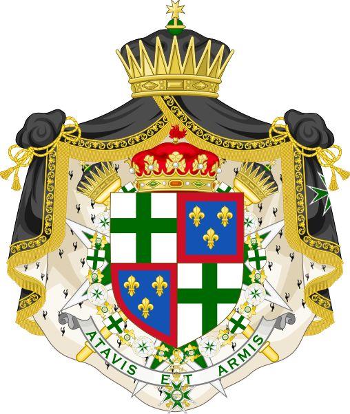 Coat of arms of Francisco de Paula of Bourbon and Escasany - Order of Saint Lazarus (statuted 1910) - Wikipedia, the free encyclopedia
