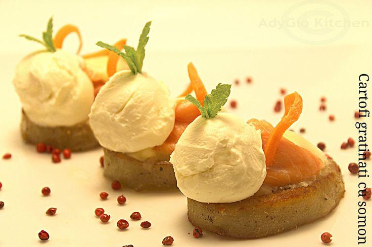 Reteta cartofi gratinati cu somon-Reteta cartofi la cuptor Adygio Kitchen