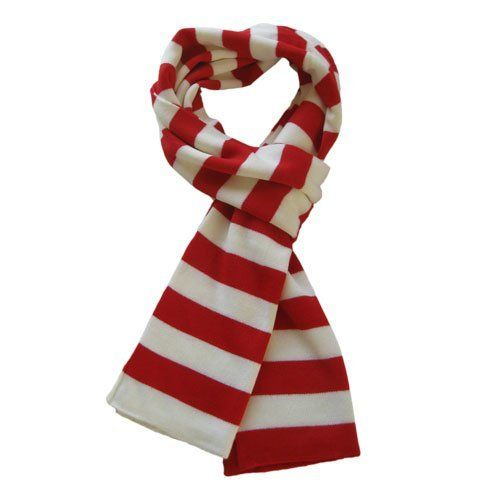 Soft Knit Striped Scarf - Red & White by TrendsBlue. Save 50 Off!. $9.99. This soft striped knit scarf is a great addition to your collection of fashion accessories. High quality & versatile. Brings you simple & effortless style along with warmth & comfort. This makes an excellent gift for women on any occasion. The size is 72 inches long and 9 inches wide. Recommended hand wash only.