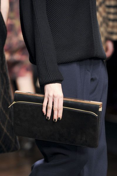 Clutch + textured jumper