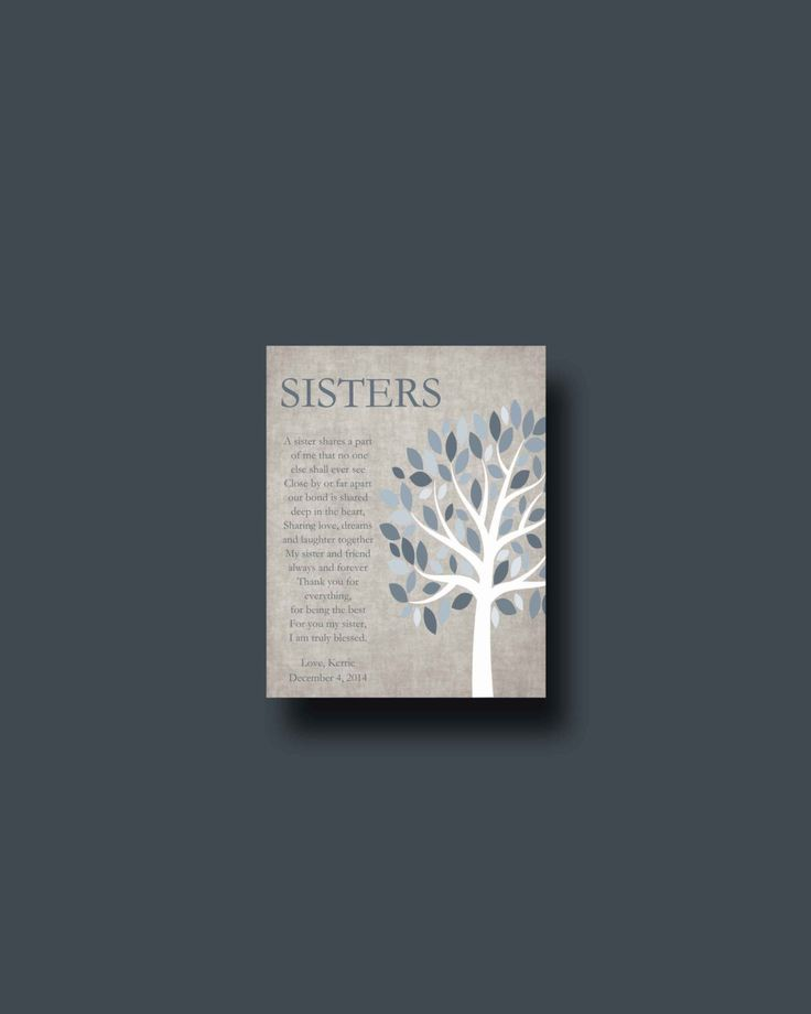 Best Wedding Gifts For My Sister : gift for your Sister - Wedding Gift for Sister, Gift for Sister ...