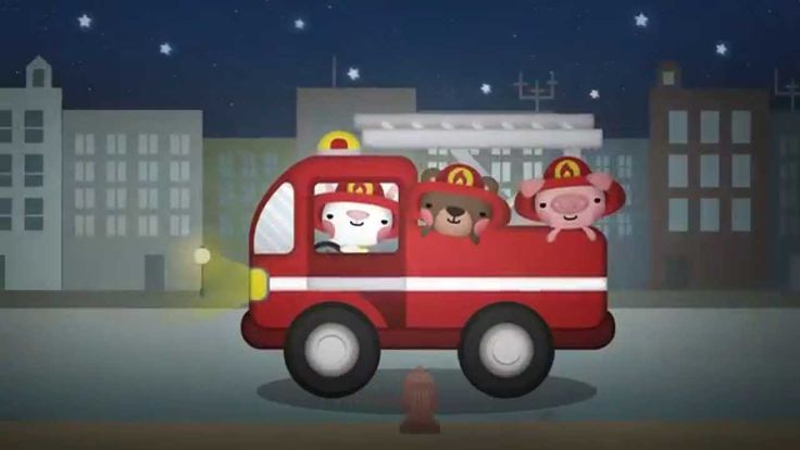 Hurry Hurry Drive the Firetruck song for children. While the video is going the children sit on the floor and do actions.