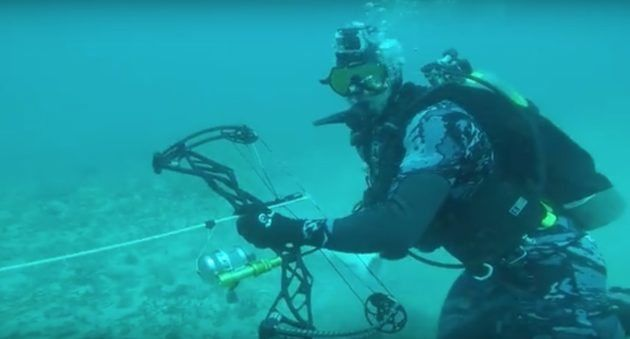 Josh Bowmar Goes Bowhunting at the Bottom of the Ocean
