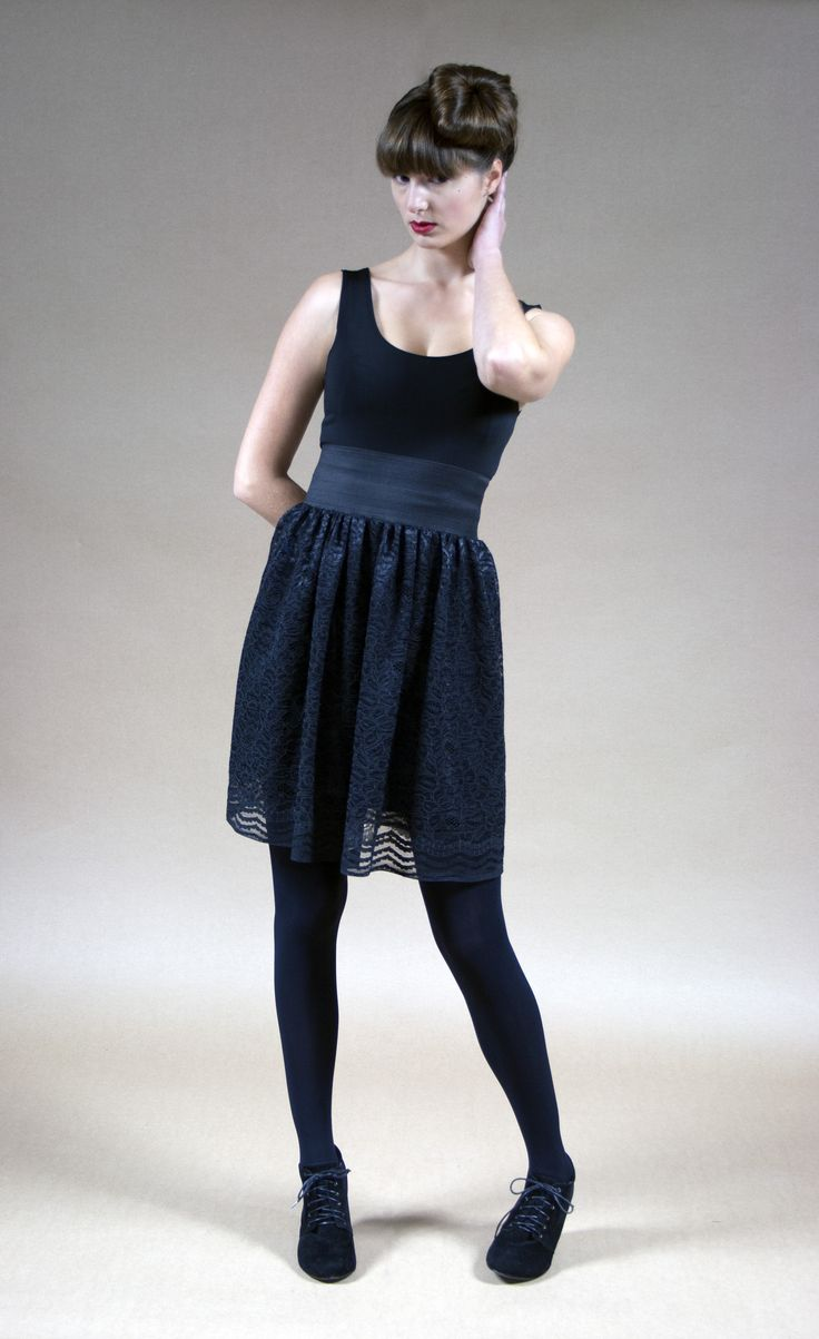 Racey Lacey Skirt Black