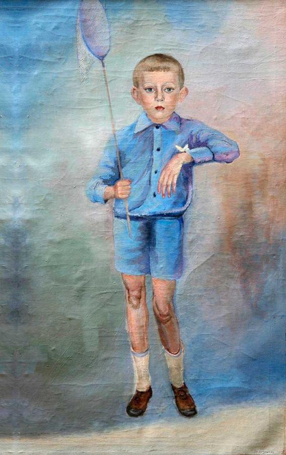 С. Лучишкин. Мальчик с бабочкой. Николаевский музей им. Верещагина