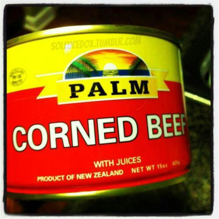 Aww yeah palm corned beef.........mmmmm tasty
