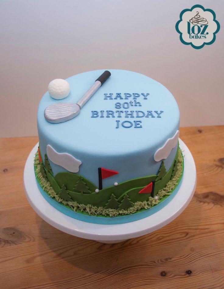 Golf themed cake for Joe's 80th birthday. All handmade and edible. ⛳️