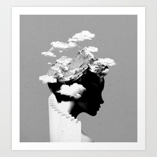 It's a cloudy day Art Print by Robert Farkas - $23.00
