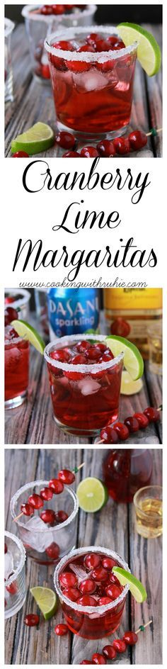 Cranberry Lime Margaritas on www.cookingwithru... is a beautiful addition to your holiday parties! #SparklingHolidays @Walmart