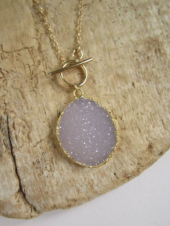 Druzy Necklace Drusy Quartz 14K Gold Fill Chain by julianneblumlo.... I'm OBSESSED!!!