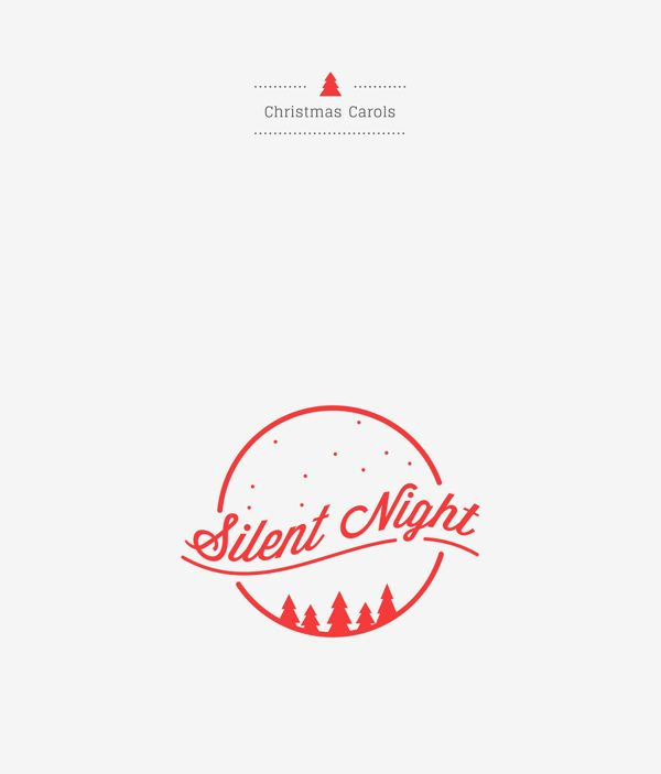 Christmas Carols   Logotype by ELLE POON, via Behance