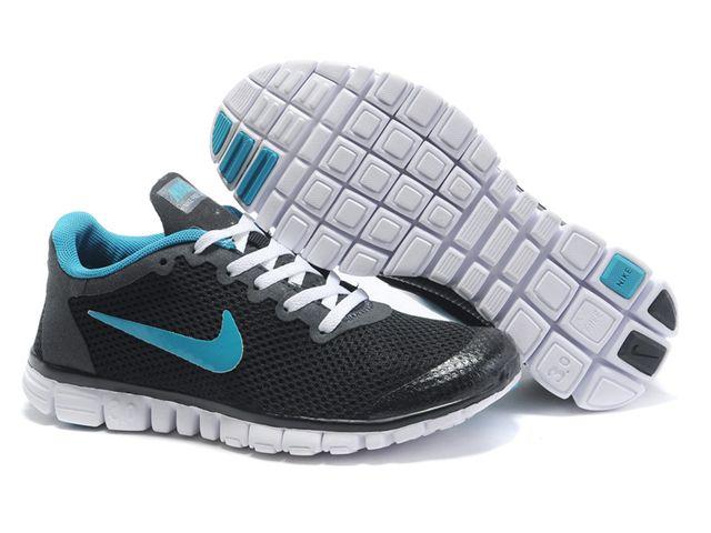 Chaussures Nike Free 3.0V2 Noir/ Blanc/ Gris/ Bleu [nike_11959] -