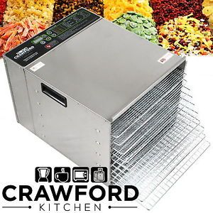 New STAINLESS STEEL Commercial Dehydrator Food Fruit Jerky Dryer Tray Blower !