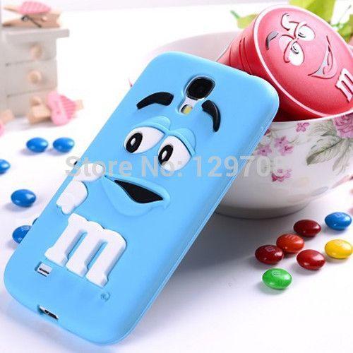 M и M , шоколадные конфеты резиновые силиконовые мультфильм сотовый телефон чехол чехлы для Samsung Galaxy S4 i9500 S5 i9600 чехол 10 шт./лот