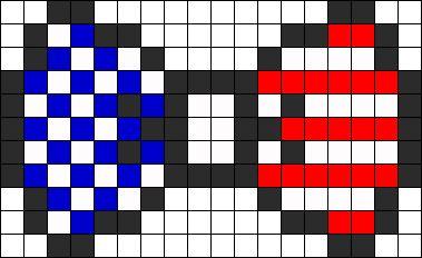 American Flag Bow Perler Bead Pattern | Bead Sprites | Simple Fuse Bead Patterns