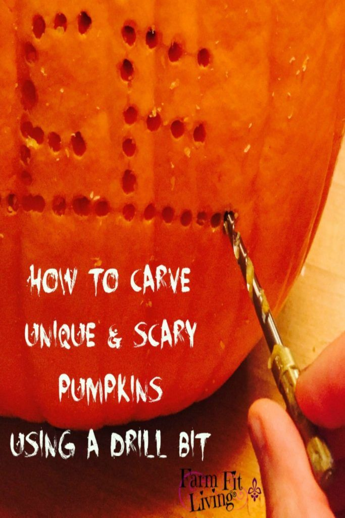 How to Carve Uniquely Scary Pumpkins Using A Drill Bit | Best Way to Carve Pumpkins | Drilling Holes in Pumpkins