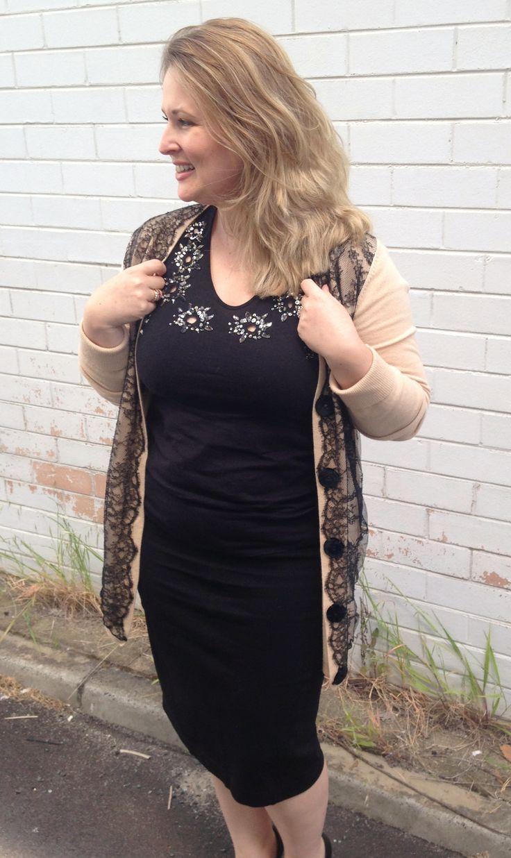 Felder Felder top, Zhor & Nema cardigan, Veronika Maine skirt, Calvin Klein Collection pumps on http://www.bargainsandbeautiful.com/sequins-lace/ #zhorandnema #felderfelder #calvinkleincollection #veronikamaine