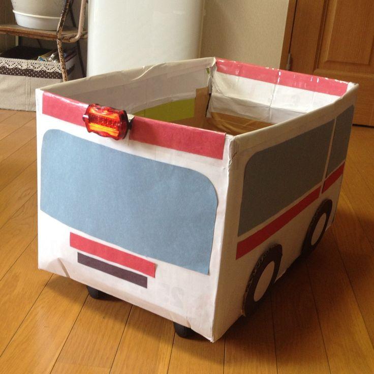 消防車ペーパークラフトイメージ 消防車 ペーパークラフト クリスマス オーナメント 手作り 子ども