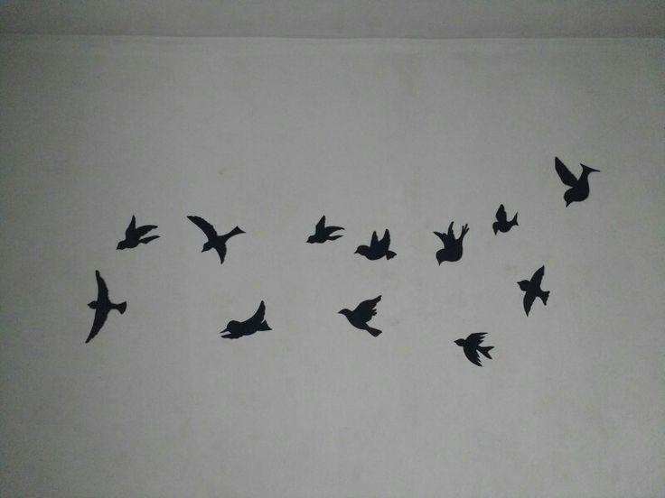 Silhueta de aves feita p o quarto da kah *-*