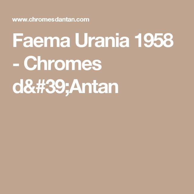 Faema Urania 1958 - Chromes d'Antan