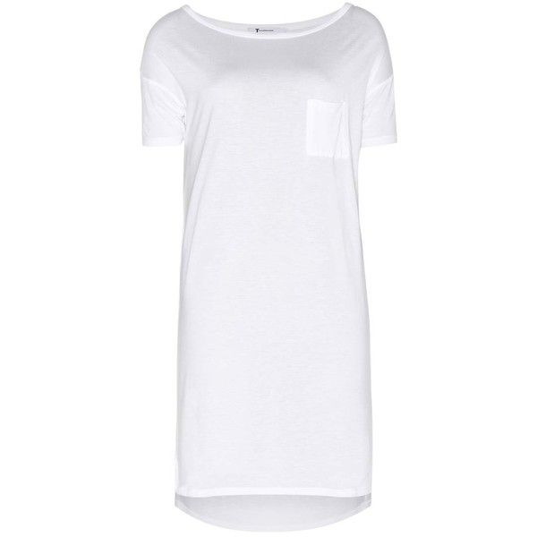 T by Alexander Wang Classic Jersey T-Shirt Dress (1.552.005 IDR) ❤ liked on Polyvore featuring dresses, white, white dress, tee shirt dress, white jersey, white t-shirt dresses and jersey dress