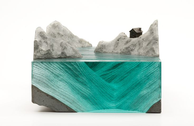 New Layered Glass Wave Sculptures by Ben Young