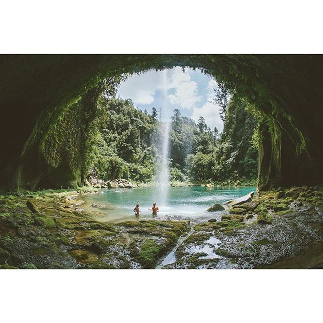 """The Lost World"" Omanawa Falls, Tauranga. Image by Rambo Estrada"