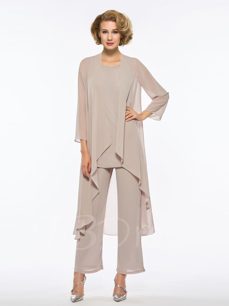 Bearer mother of the bride jumpsuit with long sleeves jacket
