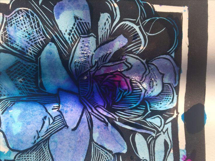 Linocut #linocut #linografía #grabado #printing #flowers #flores #flor #flower #tintachina #chineseink