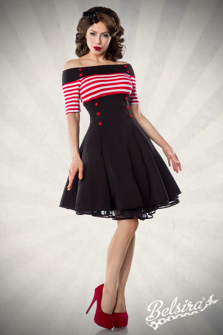 Vintage Dress by Belsira. Worn by Ophelia Overdose.  Pin-Up, Retro, Rockabilly, 50s, Vintage.