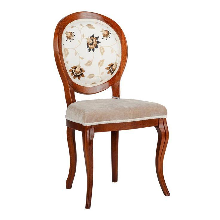 Scaunul de dining Stillo Fiore, cu tapițerie brodată, este o piesă de o eleganță aparte.