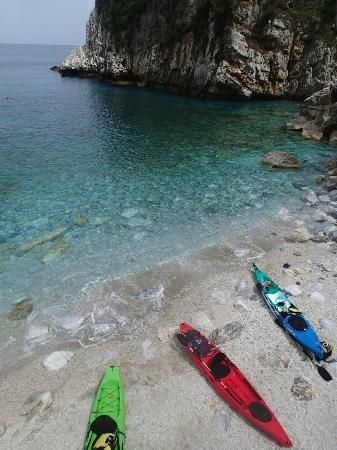 At the beach of Fakistra - Picture of Sea Kayaking Pelion Secrets ...