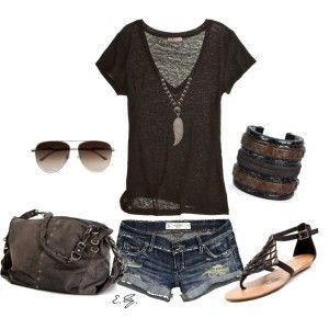 Give me this outfit and take me to the beach and i would be happy!!!!
