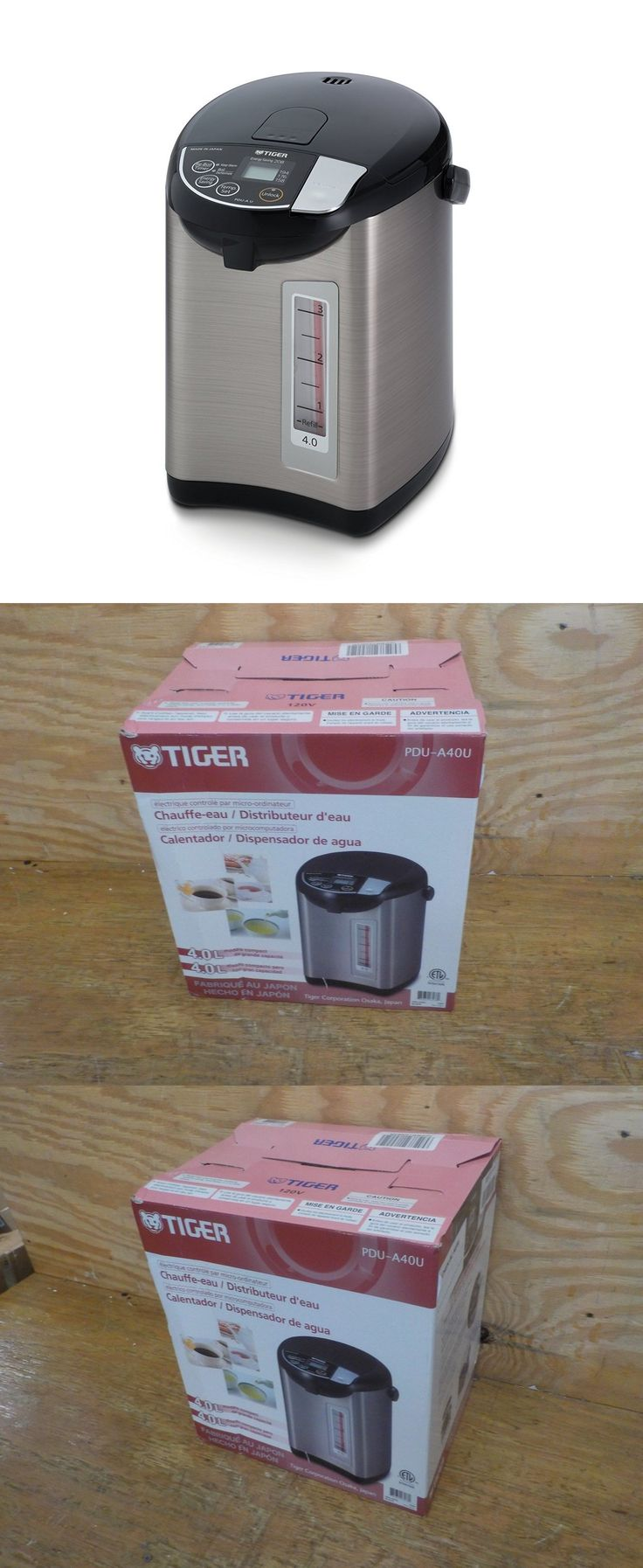 Cookers and Steamers 20672: Tiger Pdu-A40u-K Electric Water Boiler And Warmer, Stainless Black, 4.0-Liter -> BUY IT NOW ONLY: $157.99 on eBay!