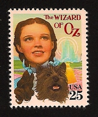 *UNITES STATES POSTAGE STAMP ~ The Wizard of oz Judy Garland Dorothy and Toto Classic Movie Film Stamp Mint NH
