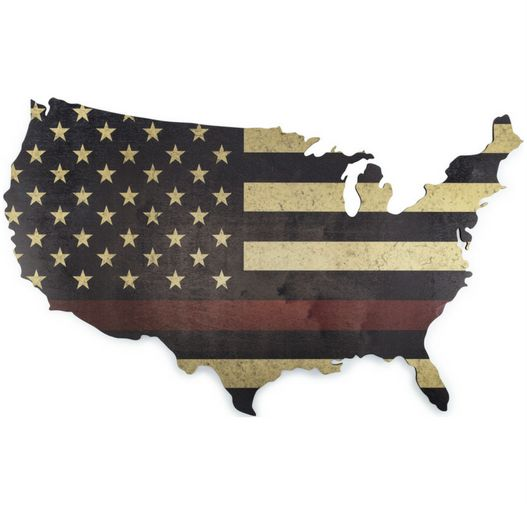 Thin Red Line Flag Wall Art